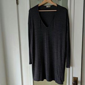 Wilfred Free Dark Gray Long Sleeve Shift Dress